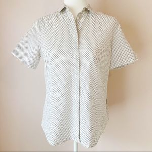 Madewell polka dot collared button down small